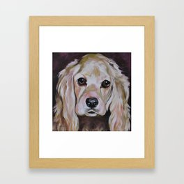 Cocker Spaniel Dog Pet Portrait Framed Art Print