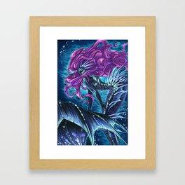 Deep Sea Mermaid Framed Art Print