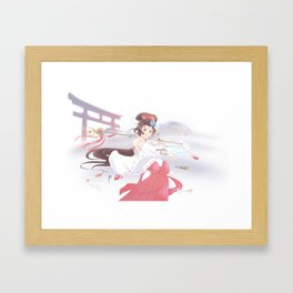 Koi miko Framed Art Print