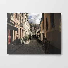 Parisian side streets Metal Print