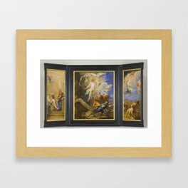 Jan (called Lange Jan) Boeckhorst - The Snyders Triptych Framed Art Print