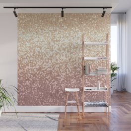 Champagne Gold Blush Pink Glittery Ombre Pattern #society6 Wall Mural