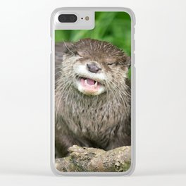 Smiling Otter Clear iPhone Case