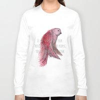 text Long Sleeve T-shirts featuring birdy text!  by gasponce
