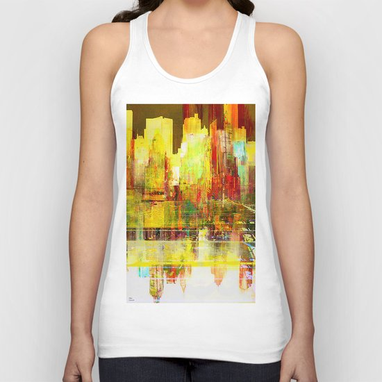 Reflection of a city Unisex Tank Top