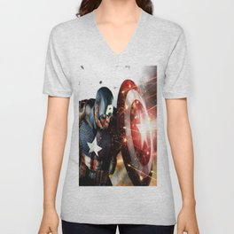 Man Of Captain In America Unisex V-Neck