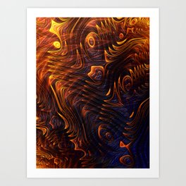Lava Flow Abstract Art Print