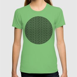Geometric Optical Illusion Pattern VII - Black T-shirt