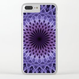 Pretty pink and violet mandala Clear iPhone Case