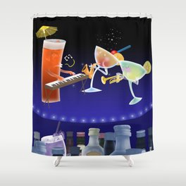 jazz & cheers Shower Curtain