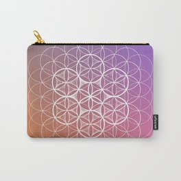 THE FLOWER OF LIFE - WHITE MANDALA Carry-All Pouch