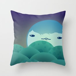 Moonlit Hills Throw Pillow
