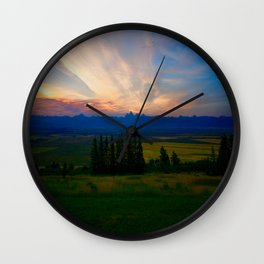 Teton Valley Sunset Wall Clock