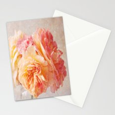Textured Pastel Rose Stationery Cards