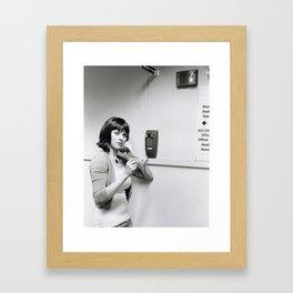 Hold the Phone  Framed Art Print