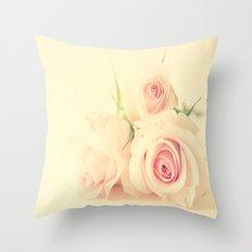 Peachy Roses  Throw Pillow