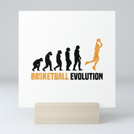 Basketball Evolution T Shirt Basketball Player TShirt Three Pointer  Shirt Evolution-Look Gift Idea Mini Art Print