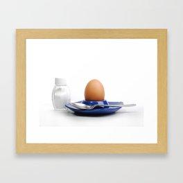 egg and salt food ingredients condiments Framed Art Print