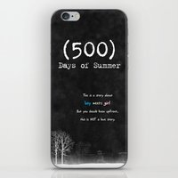 500 days of summer iPhone & iPod Skins featuring 500 Days of Summer by DrøpDeadRian