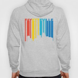 Retro 1970's Style Fayetteville North Carolina Skyline Hoody