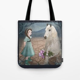 Talking with horseguy Tote Bag