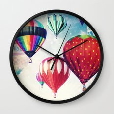 Dreaming of Hot Air Balloons Wall Clock