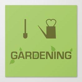 I heart Gardening Canvas Print