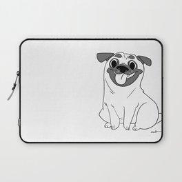 Pug Lineart Laptop Sleeve