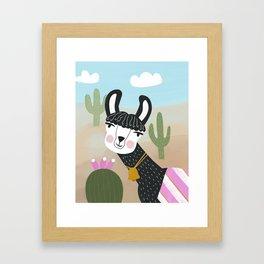 Llama Framed Art Print