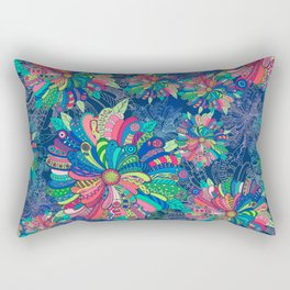 Flower Burst Rectangular Pillow
