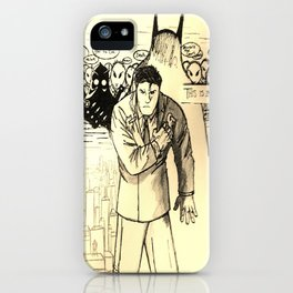A Bat Between the Owls and His City iPhone Case