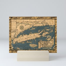 Map of Long Island Mini Art Print