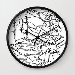 Kaslo River Flow Wall Clock