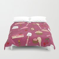 baking Duvet Covers featuring Shaking n' Baking by Valentina Cariel