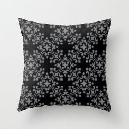Sharkskin Vintage Brocade Damask Throw Pillow