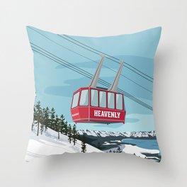 Heavenly Mt. Gondola Throw Pillow