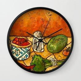 Picante Kitchen Art Wall Clock