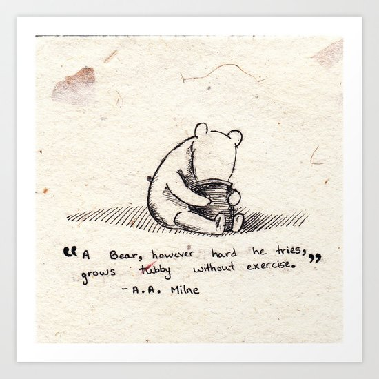 Winnie the Pooh Art Print