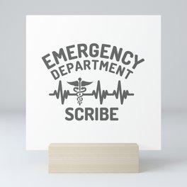 ER scribe, emergency department scribe Mini Art Print