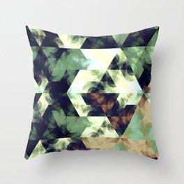 Green Hex Throw Pillow