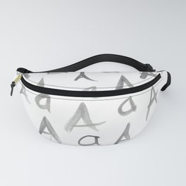 Watercolor A's - Grey Gray Fanny Pack