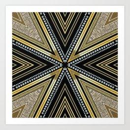 Glam Cross Star Art Print