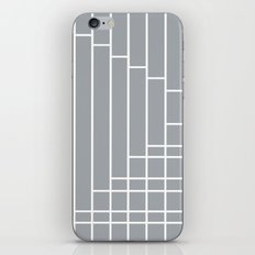 Fuzz Outline Grey iPhone & iPod Skin