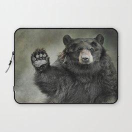 Black Bear Greeting Laptop Sleeve
