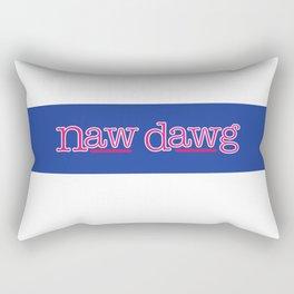 Naw Dawg Blue Stripe Rectangular Pillow