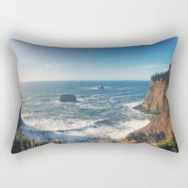 The Sunny Oregon Coast Rectangular Pillow