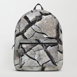 dry cracked earth natural mud pattern texture Backpack