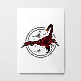 Red Scorpion 2 Metal Print