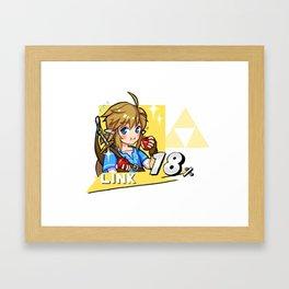 SmashBros x BOTW Link! Framed Art Print