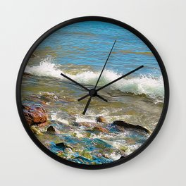 North Shore Waves 3 Wall Clock